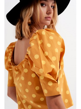 https://brandsaddicted.com/188664-home_default/4049132-polka-dot-top-with-puffed-sleeves-and-square-neckline-in-yellow.jpg